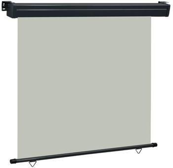 vidaXL Balkon-Seitenmarkise 160 × 250 cm grau 48434
