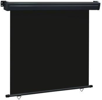 vidaXL Balkon-Seitenmarkise 170 × 250 cm schwarz 48436