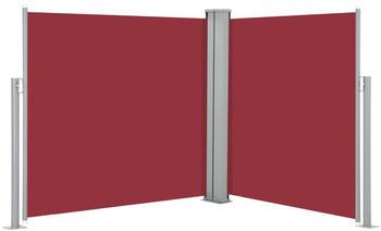 vidaXL Ausziehbare Seitenmarkise rot 120 x 600 cm 48453