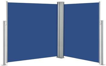 vidaXL Ausziehbare Seitenmarkise blau 140 x 600 cm 48458