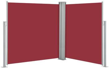 vidaXL Ausziehbare Seitenmarkise rot 140 x 600 cm 48459