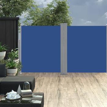 vidaXL Ausziehbare Seitenmarkise blau 160 x 600 cm 48464