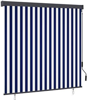 vidaXL Außenrollo 160 x 250 cm blau/weiß 145973