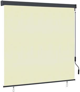 vidaXL Außenrollo 160 x 250 cm creme 145977