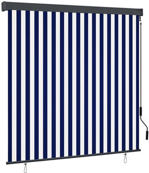 vidaXL Außenrollo 170 x 250 cm blau/weiß 145979
