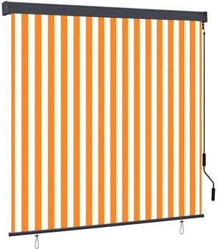 vidaXL Außenrollo 170 x 250 cm weiß/orange 145981