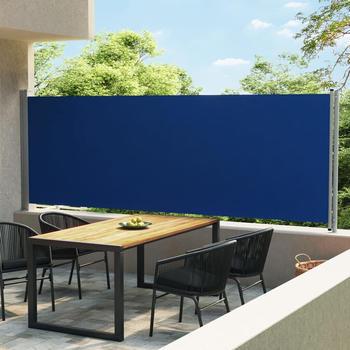 vidaXL Ausziehbare Seitenmarkise 600 x 160 cm blau 313377