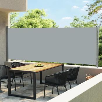 vidaXL Ausziehbare Seitenmarkise 600 x 160 cm grau 313379