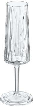 Koziol Club No.5 Champagnerglas Diamant-Optik Klar