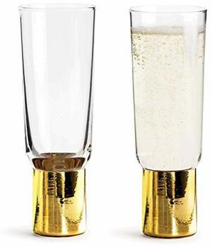 Sagaform Champagnerglas 2er Pack gold-farbend