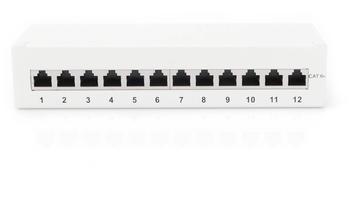Digitus Desktop CAT 6A Klasse EA Patch Panel geschirmt grau (DN-91612SD-EA-G)