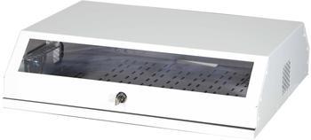 """EFB Elektronik 19"""" Wandgehäuse 3HE vertikal + 5HE horizontal weiß"""