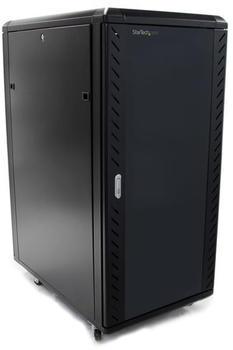 StarTech 25HE Zerlegbares Server Rack/ -Schrank mit Rollen schwarz
