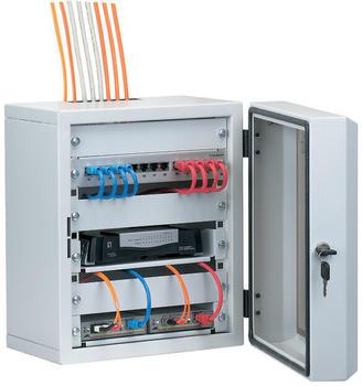 """EFB Elektronik Mini-Rack 10"""" 7HE mit Sichttür grau (691801)"""