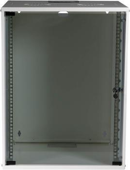 "EFB Elektronik 19"" 15HE Wandgehäuse Basic Flat Pack weiß (WGB-1915WS.60)"