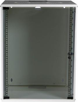 "EFB Elektronik 19"" 15HE Wandgehäuse Basic Flat Pack weiß (WGB-1915WS.45)"
