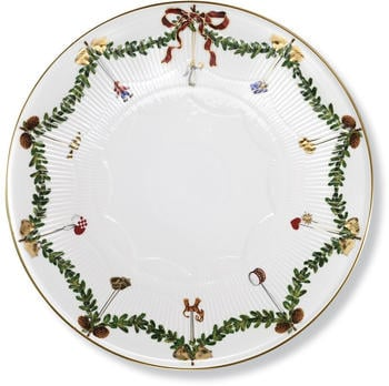 Royal Copenhagen Star Fluted Christmas Tortenständer (32 cm)