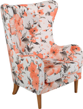Max Winzer Ohrenbackensessel floral lachs