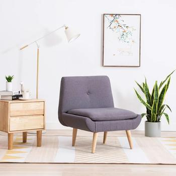 vidaXL Armless Chair Light Grey