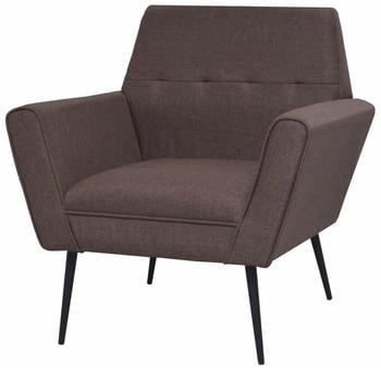 vidaXL Chair in Brown Fabric and Steel