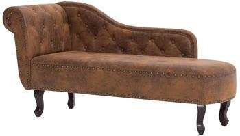 vidaXL Lounge Chair Classic Fake Leather Brown