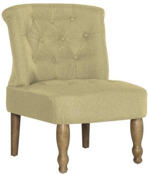 vidaXL French Chair in Green Fabric