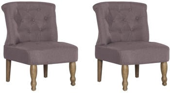 vidaXL French Chair in Taupe Fabric