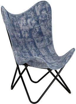 vidaXL Butterfly Chair Indigo Blue