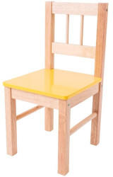Bigjigs Toys Bigjigs Childrens Wooden Yellow Chair - Bedroom Furniture and Accessories
