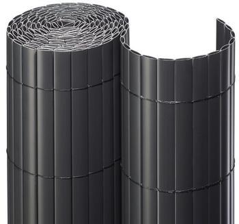 Noor Sichtschutzmatte PVC 160 x 300 cm anthrazit
