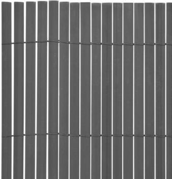 vidaXL Gartenzaun Doppelseitig PVC 150 x 300 cm grau (43636)