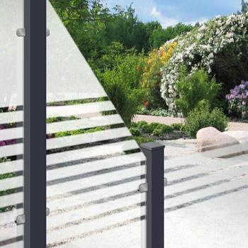 GroJa Ambiente Glas-Sichtschutz Typ Schräg rechts 90x180/90 Blockstreifen (210793590180901)