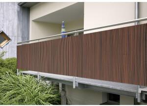 Floraworld PVC-Sichtschutzmatte Classic 90 x 300 cm braun