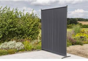 Merxx Sichtschutz-Paravent breit 155 x 188 cm grau