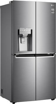 LG GML844PZAE Side-by-Side Kombination, 83,5 cm breit, 506L, NoFrost, Eis-, Crushed Ice- und Wasserspender, 4L Wassertank, Edelstahl