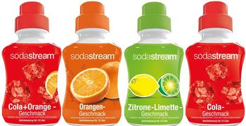 Sodastream Cola/Orange/Zitrone-Limette/Cola-Mix 4x500 ml