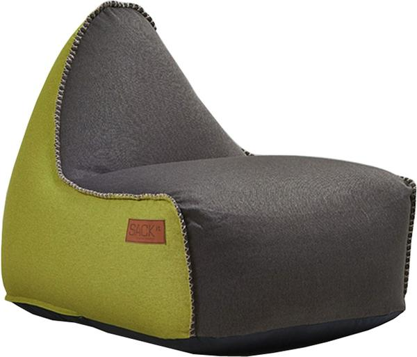 SACKit RETROit Canvas dunkelbraun/limette