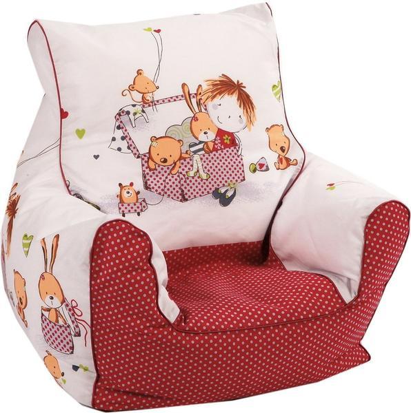 Knorrtoys Mini-Sitzsack Spielzimmer rot