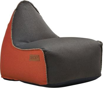 SACKit RETROit Canvas dunkelbraun/orange