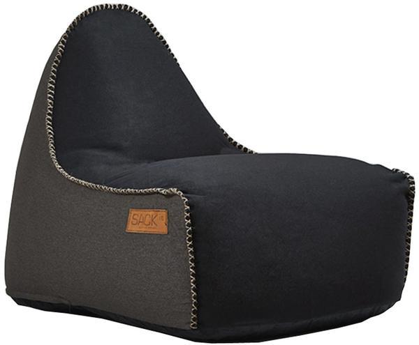 SACKit RETROit Cobana Sitzsack schwarz/dunkelbraun