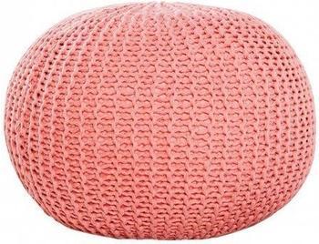 invicta-design-pouf-leeds-50cm-strick-koralle