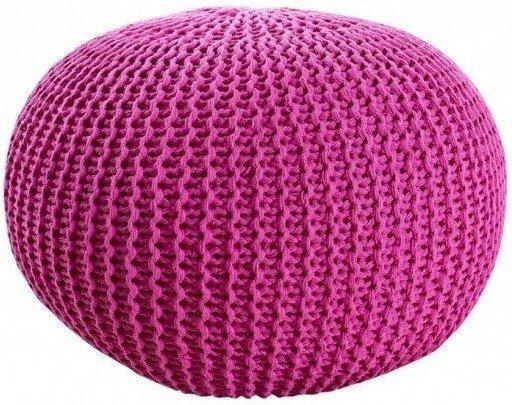 Invicta Design Pouf LEEDS 50cm Strick pink