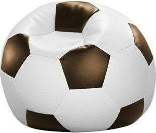 Cats Collection Fussball Sitzsack Kunstleder 90cm weiß/braun (72899-002)