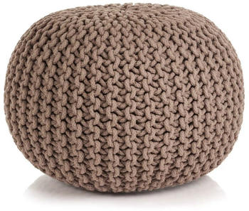 vidaXL Hand-made pouf Cotton 50 x 35 cm Brown