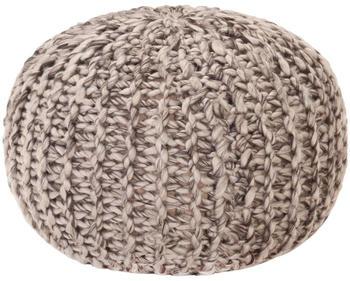 vidaXL Bean Bag Cube Handmade Wool Style 50 x 35 cm Light Grey