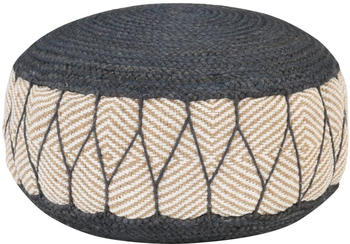 vidaXL Bean Bag Woven/Knitted Jute Cotton 50 x 30 cm Blue/Beige