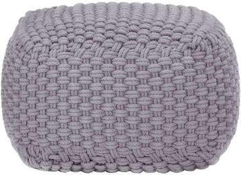 vidaXL Bean Bag Cube Hand Knitted 50 x 50 x 30 cm Grey