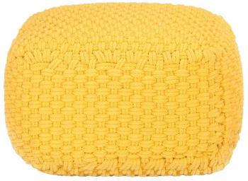 vidaXL Bean Bag Hand Knitted 50 x 50 x 30 cm yellow