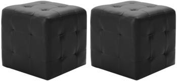 vidaXL Bean Bags Fake Leather Black (2 Pieces)