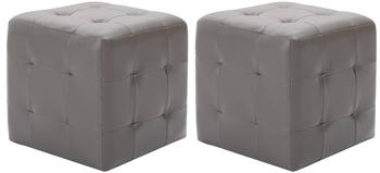 vidaXL Bean Bags Fake Leather Grey (2 Pieces)